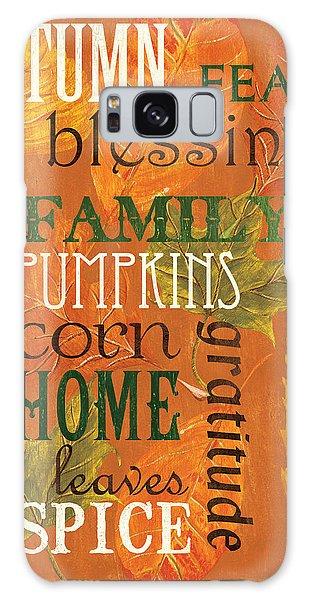 Fall Typography 1 Galaxy Case by Debbie DeWitt