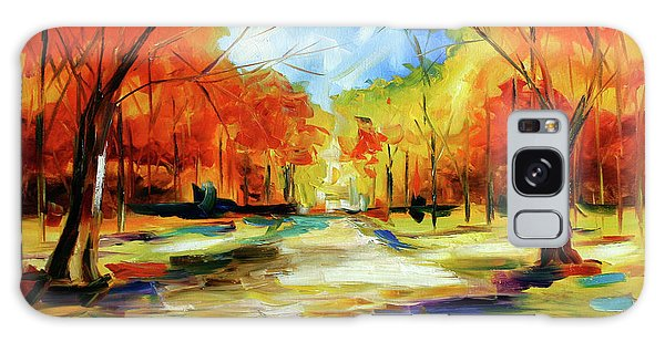 Fall Walk In The Trees Galaxy Case