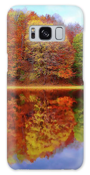 Galaxy Case featuring the painting Fall Waters by Harry Warrick