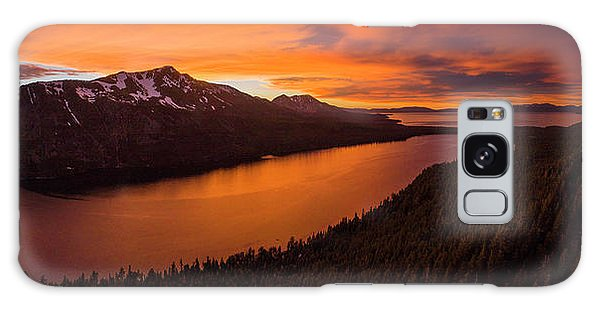 Fallen Leaf Lake Sunset Aerial By Brad Scott Galaxy Case
