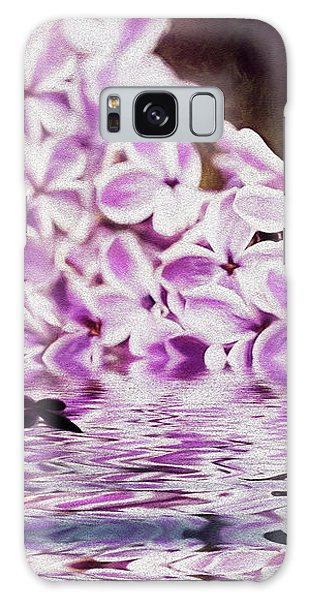 Fallen Lilacs Galaxy Case by Diane Schuster