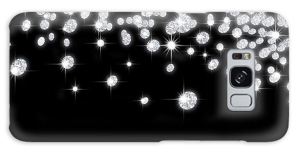 Falling Diamonds Galaxy Case
