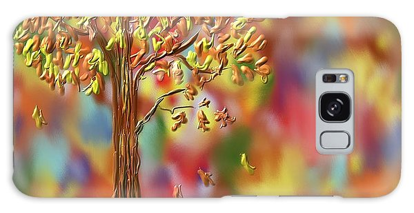 Falling Leaves Galaxy Case by Kevin Caudill