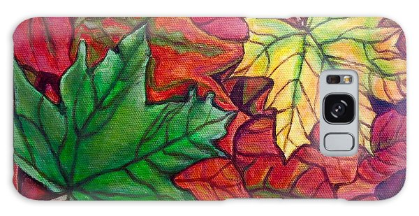 Falling Leaves I Painting Galaxy Case by Kimberlee Baxter