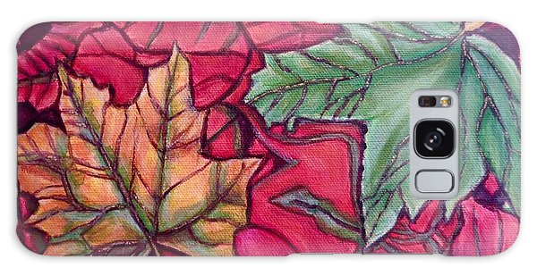 Falling Leaves Two Painting Galaxy Case by Kimberlee Baxter