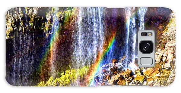 Falling Rainbows Galaxy Case
