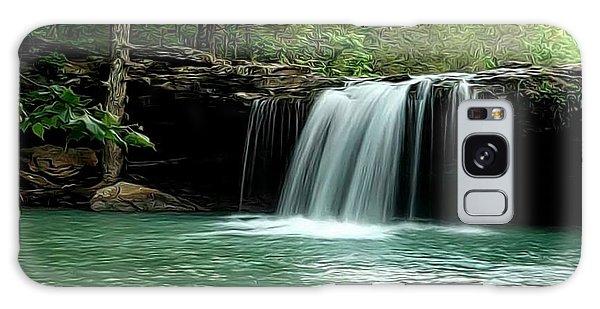 Falling Water Falls Galaxy Case