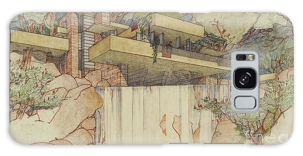 Fallingwater Pen And Ink Galaxy Case