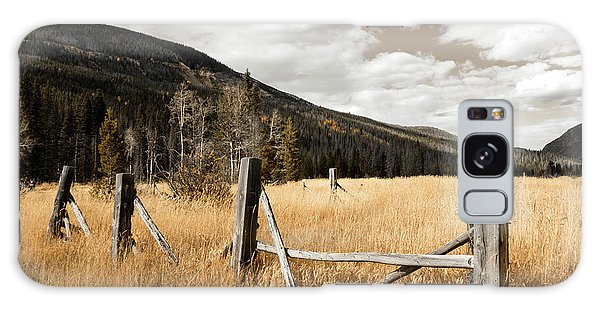 Fallowfield Weathered Fence Rocky Mountain National Park Dramatic Sky Galaxy Case by John Stephens