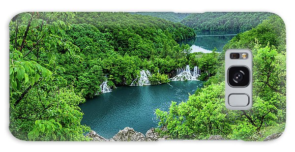 Falls From Above - Plitvice Lakes National Park, Croatia Galaxy Case