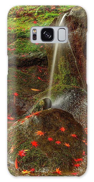 Falls In Seattle Japanese Garden Galaxy Case
