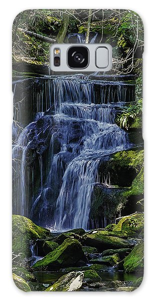 Falls In Vermont Mountain Stream  Galaxy Case