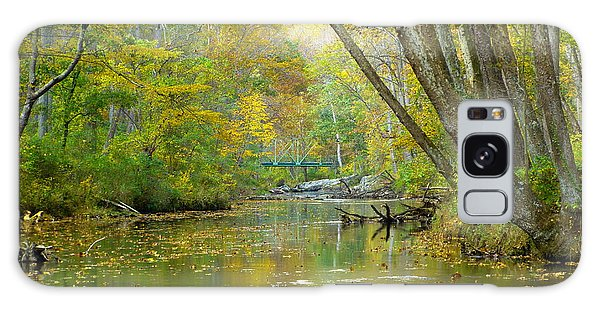 Falls Road Bridge Over The Gunpowder Falls Galaxy Case by Donald C Morgan