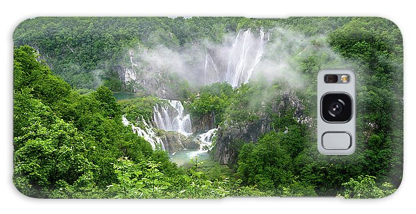 Falls Through The Fog - Plitvice Lakes National Park Croatia Galaxy Case