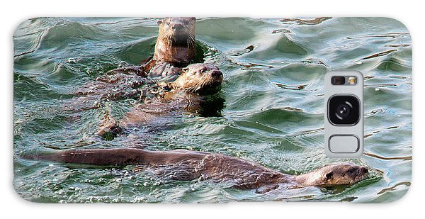 River Otter Galaxy Case - Family Play Time by Mike Dawson