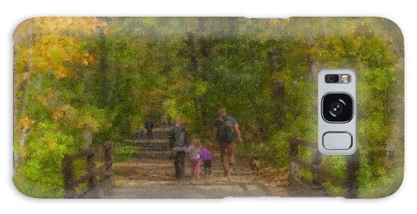 Family Walk At Borderland Galaxy Case