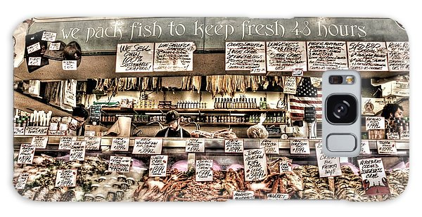 Famous Fish At Pike Place Market Galaxy Case