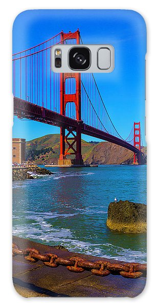Rusty Chain Galaxy Case - Famous Golden Gate Bridge by Garry Gay