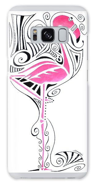 Fanciful Flamingo Galaxy Case