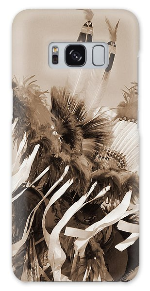 Galaxy Case featuring the photograph Fancy Dancer In Sepia by Heidi Hermes