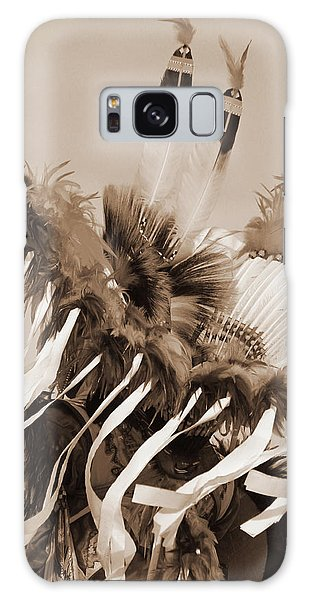 Fancy Dancer In Sepia Galaxy Case by Heidi Hermes