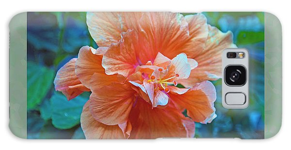 Fancy Peach Hibiscus Galaxy Case