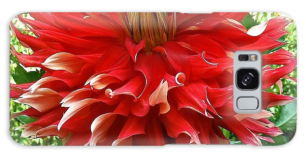 Fancy Red Dahlia Galaxy Case