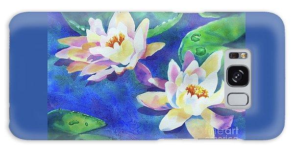 Fancy Waterlilies Galaxy Case by Kathy Braud