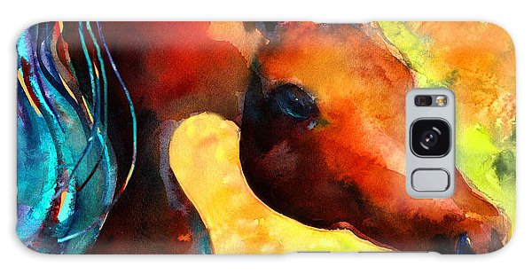 Watercolor Pet Portraits Galaxy Case - Fantasy Arabian Horse by Svetlana Novikova