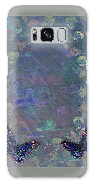 Fantasy Butterfly Painted Pansy Galaxy Case