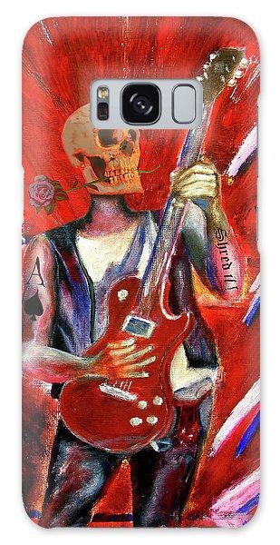 Fantasy Heavy Metal Skull Guitarist Galaxy Case