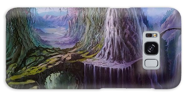 Galaxy Case featuring the painting Fantasy Land by Rosario Piazza