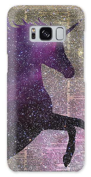 Mottled Galaxy Case - Fantasy Unicorn In The Space by Anna W