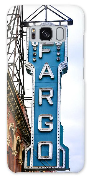 Fargo Blue Theater Sign Galaxy Case by Chris Smith