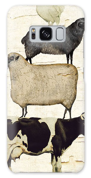 Cow Galaxy S8 Case - Farm Animals Pileup by Mindy Sommers