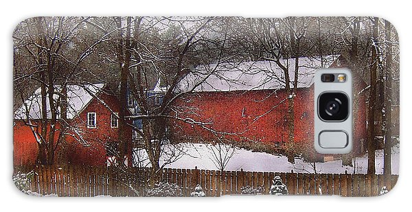 Farm - Barn - Winter In The Country  Galaxy Case