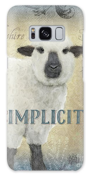 Galaxy Case featuring the painting Farm Fresh Sheep Lamb Simplicity Square by Audrey Jeanne Roberts