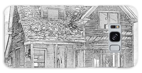 Galaxy Case - Farm House Pen And Ink by Bob Neiman