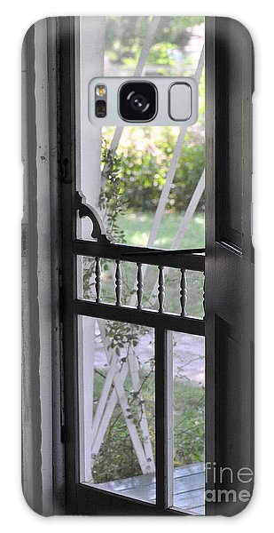 Farm House Screen Door Galaxy Case