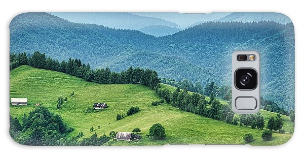 Farm In The Mountains - Romania Galaxy Case