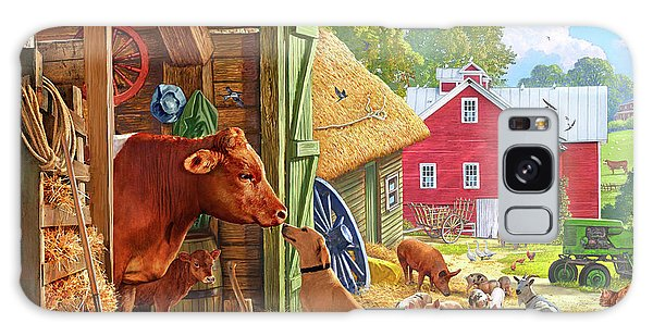 Farm Scene In America Galaxy Case