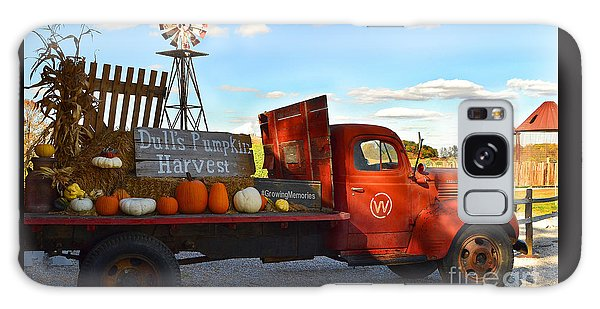 Farm With Red Truck In Fall  Galaxy Case