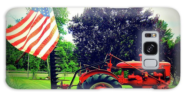 Farmall And Flag Galaxy Case