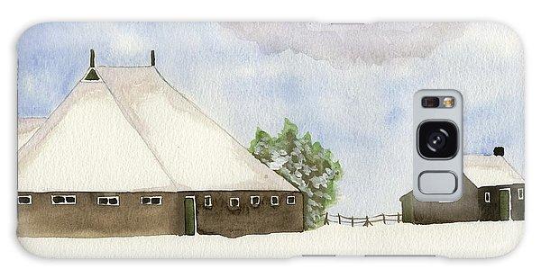 Farmhouse In The Snow Galaxy Case by Annemeet Hasidi- van der Leij