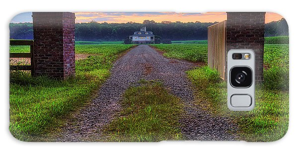 Galaxy Case featuring the photograph Farmhouse Sunrise - Arkansas - Landscape by Jason Politte
