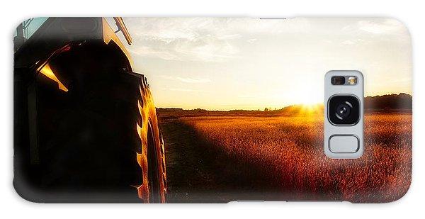 Farming Until Sunset Galaxy Case