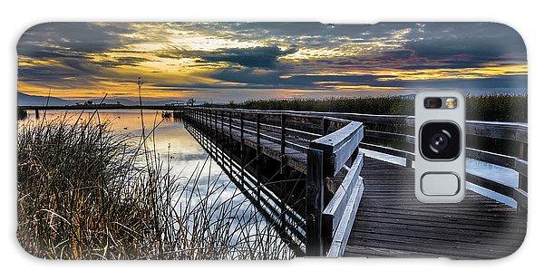 Farmington Bay Sunset - Great Salt Lake Galaxy Case