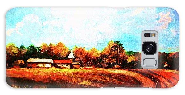 Farmland In Autumn Galaxy Case