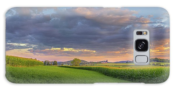 Galaxy Case featuring the photograph Farmland Sunset 2017 by Bill Wakeley