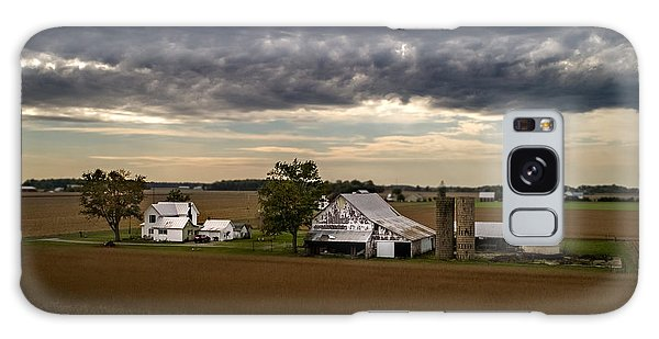 Farmstead Under Clouds Galaxy Case